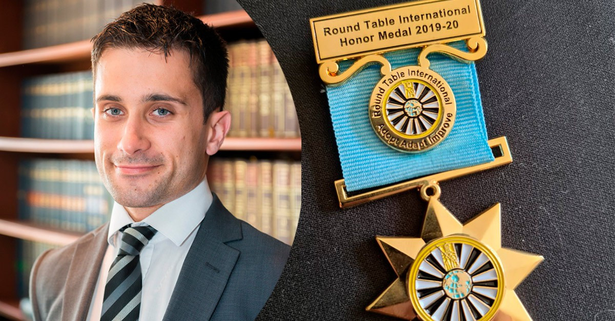Nicholas Gomez: First Gibraltarian to Recieve Round Table International Honour Medal Image